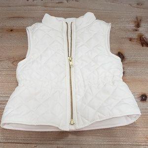 Old navy toddler girl puffer vest